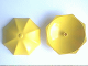 Part No: x845  Name: Fabuland Umbrella Top with No Bottom Flaps, 6 x 6 with No Top Stud (only a nub)