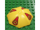 Part No: x845pb01  Name: Fabuland Umbrella Top with No Bottom Flaps, with Red Pennant and Yellow Flowers Pattern (Stickers) - Set 3681