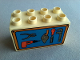 Part No: 31111pb007  Name: Duplo, Brick 2 x 4 x 2 with Tools on Blue Background Pattern