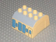 Part No: 51548pb04  Name: Duplo, Train Cab Upper Section with Carriage Pattern