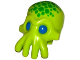 Part No: 18828pb01  Name: Minifigure, Head Modified Alien with 4 Mouth Tentacles and Blue Eyes and Green Spots Pattern