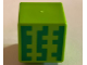 Part No: 19729pb023  Name: Minifigure, Head Modified Cube with 3 Green Blocky Lines Pattern (Minecraft Melon)