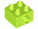 Part No: 22881  Name: Duplo, Brick 2 x 2 with Pin on Side with Groove
