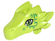 Part No: 24196pb02  Name: Dragon Head (Elves) Upper Jaw with Green Eyes and Swirls Pattern (Thome)