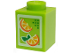 Part No: 3005pb017  Name: Brick 1 x 1 with Oranges Pattern (Juice Carton)
