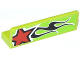 Part No: 30413pb039L  Name: Panel 1 x 4 x 1 with Red Star and Black Flames Pattern Model Left Side (Sticker) - Set 60055