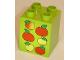 Part No: 31110pb036  Name: Duplo, Brick 2 x 2 x 2 with Six Apples Pattern
