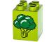 Part No: 31110pb114  Name: Duplo, Brick 2 x 2 x 2 with Broccoli Pattern