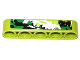 Part No: 32316pb007R  Name: Technic, Liftarm 1 x 5 Thick with Black, White and Green Camouflage Pattern Model Right Side (Sticker) - Set 42027
