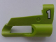 Part No: 32527pb19  Name: Technic, Panel Fairing # 5 Small Short, Large Hole, Side A with White '1' on Lime Background Pattern (Sticker) - Set 8256