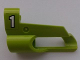 Part No: 32528pb19  Name: Technic, Panel Fairing # 6 Small Short, Large Hole, Side B with White '1' on Lime Background Pattern (Sticker) - Set 8256