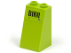 Part No: 3684apb011  Name: Slope 75 2 x 2 x 3 - Hollow Studs with Black 'BIKe' on Lime Background Pattern (Sticker) - Set 8961
