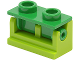Part No: 3937c07  Name: Hinge Brick 1 x 2 Complete Assembly with Green Top Plate