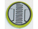 Part No: 4150pb066  Name: Tile, Round 2 x 2 with 9 Oval Grills Pattern (Sticker) - Set 8957