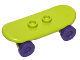 Part No: 42511c04  Name: Minifigure, Utensil Skateboard with Trolley Wheel Holders and Dark Purple Trolley Wheels (42511 / 2496)