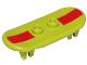 Part No: 42511pb14s  Name: Minifigure, Utensil Skateboard with Trolley Wheel Holders with Dark Red Stripe Pattern (Sticker) - Set 71006