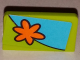 Part No: 4865pb071R  Name: Panel 1 x 2 x 1 with Orange Flower Pattern Model Right Side (Sticker) - Set 75901