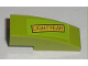Part No: 50950pb010  Name: Slope, Curved 3 x 1 No Studs with 'LIGHTYEAR' Pattern (Sticker) - Set 7592