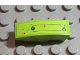 Part No: 50950pb020R  Name: Slope, Curved 3 x 1 No Studs with Rectangular Outline and Small Circle and Rusted Holes Pattern Model Right (Sticker) - Set 8958
