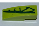 Part No: 50950pb047L  Name: Slope, Curved 3 x 1 No Studs with 4 Lime Scales Pattern Model Left Side (Sticker) - Set 9558