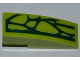 Part No: 50950pb048R  Name: Slope, Curved 3 x 1 No Studs with 7 Lime Scales Pattern Model Right Side (Sticker) - Set 9558