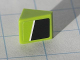 Part No: 54200pb013L  Name: Slope 30 1 x 1 x 2/3 with White Line on Lime and Black Pattern Model Left side (Sticker) - Set 8119