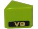 Part No: 54200pb068L  Name: Slope 30 1 x 1 x 2/3 with Gold 'V8' on Black Background Pattern Model Left Side (Sticker) - Set 8147