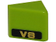 Part No: 54200pb068R  Name: Slope 30 1 x 1 x 2/3 with Gold 'V8' on Black Background Pattern Model Right Side (Sticker) - Set 8147