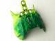 Part No: 57559pb03  Name: Bionicle Barraki Carapar Chest Cover, Marbled Dark Green Pattern