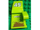 Part No: 61070pb002  Name: Technic, Panel Car Mudguard Right with 'YUBIHAMA' and '45' on Lime Background Pattern (Stickers) - Set 8492