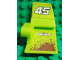 Part No: 61071pb002  Name: Technic, Panel Car Mudguard Left with 'YUBIHAMA' and '45' on Lime Background Pattern (Stickers) - Set 8492