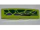 Part No: 61678pb044R  Name: Slope, Curved 4 x 1 No Studs with 8 Green Scales and 5 Purple Scales Pattern Model Right (Sticker) - Set 9443