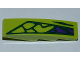 Part No: 61678pb046R  Name: Slope, Curved 4 x 1 No Studs with 5 Green Scales and 3 Purple Scales Pattern Model Right (Sticker) - Set 9455