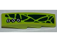 Part No: 61678pb052R  Name: Slope, Curved 4 x 1 No Studs with Dark Green Scales and 3 Screws Pattern Model Right (Sticker) - Set 9447