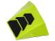 Part No: 64225pb008  Name: Wedge 4 x 3 No Studs with Black Trapezoids Pattern (Sticker) - Set 70705