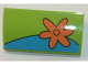 Part No: 88930pb073R  Name: Slope, Curved 2 x 4 x 2/3 No Studs with Bottom Tubes with Orange Flower Pattern Model Right Side (Sticker) - Set 75902