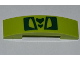 Part No: 93273pb008  Name: Slope, Curved 4 x 1 Double No Studs with Green Scales Pattern (Sticker) - Set 9558