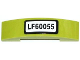 Part No: 93273pb028  Name: Slope, Curved 4 x 1 Double No Studs with 'LF60055' Pattern (Sticker) - Set 60055