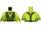 Part No: 973pb1224c01  Name: Torso Black Mesh Wrap Pattern (SW Oola) / Lime Arms / Lime Hands