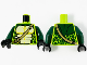 Part No: 973pb3425c01  Name: Torso Ninjago Snake with Dark Tan Shoulder Belt and Green and Tan Scales Pattern / Dark Green Arms / Black Hands (Spitta)