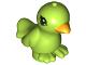 Part No: 98388pb02  Name: Bird, Friends / Elves with Bright Light Orange Beak and Black Eyes Pattern