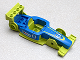 Part No: 98541c01pb01  Name: Duplo, Toolo Formula Car Chassis Assembly with Blue Top and Number 8 and Octan Logo Pattern