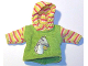 Part No: scl039  Name: Scala, Clothes Female Jacket with Multicolor Striped Hood and Sleeves