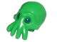Part No: 18828pb02  Name: Minifigure, Head Modified Alien with 4 Mouth Tentacles and Dark Blue Eyes Pattern