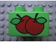 Part No: 3437pb004  Name: Duplo, Brick 2 x 2 with 2 Apples Pattern