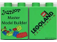 Part No: 4066pb203  Name: Duplo, Brick 1 x 2 x 2 with Junior Master Model Builder 2005 Pattern