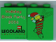 Part No: 4066pb210  Name: Duplo, Brick 1 x 2 x 2 with Holiday Block Party 2005 Pattern