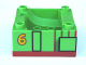 Part No: 51547pb01  Name: Duplo, Train Cab / Tender Base with Bottom Tube and Thomas & Friends Percy Pattern