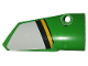 Part No: 64391pb044  Name: Technic, Panel Fairing # 4 Small Smooth Long, Side B with White, Black and Yellow Stripes Pattern (Sticker) - Set 42039
