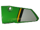 Part No: 64683pb044  Name: Technic, Panel Fairing # 3 Small Smooth Long, Side A with White, Black and Yellow Stripes Pattern (Sticker) - Set 42039
